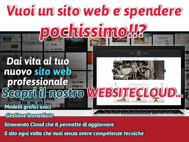SITO WEB ECONOMICO CON WEBSITECLOUD